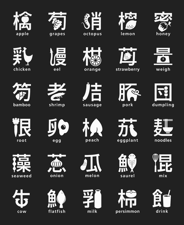 Anime In Japanese Writing: Japanese Food And Kanji Art